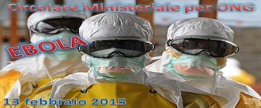 Ebola. La Circolare per personale ONG
