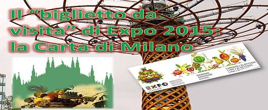 """Il """"biglietto da visita"""" di Expo 2015: la Carta di Milano"""