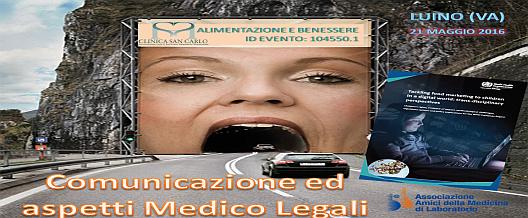 Alimentazione Comunicazione ed aspetti medico legali