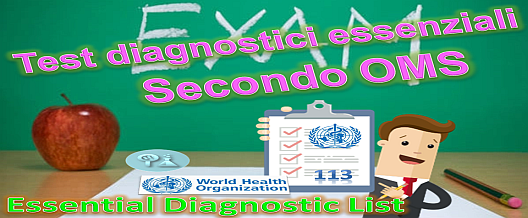 Essential Diagnostic List secondo l'OMS