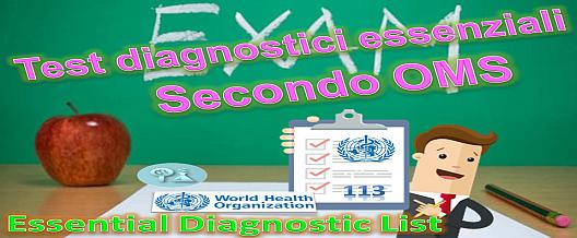 Essential Diagnostic List secondo l'OMS