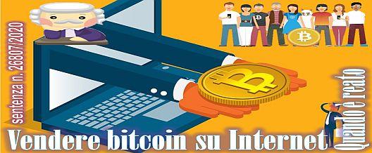 Vendere bitcoin su Internet