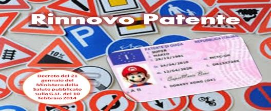 Certificato Medico per rinnovo patente