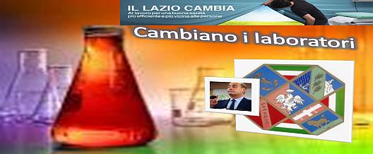 Il Lazio cambia: cambiano i Laboratori