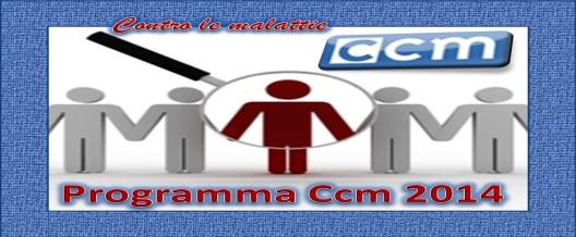 CCM programma 2014 contro le malattie