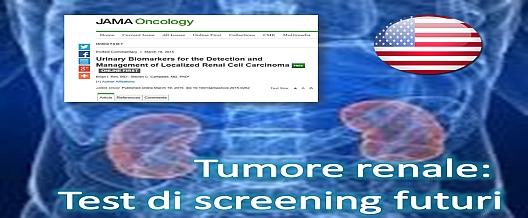 Tumore renale. Diagnosi precoce grazie a un test delle urine