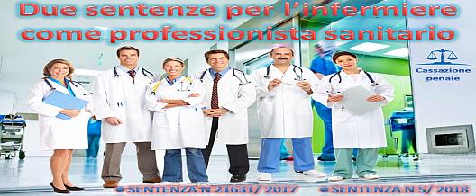 Due sentenze per l'infermiere come professionista sanitario