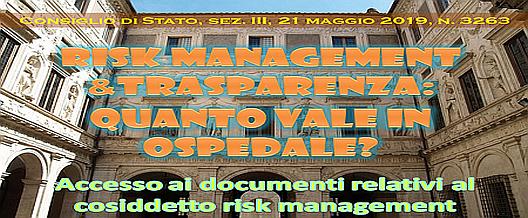 Risk Management & Trasparenza: quanto vale in ospedale?