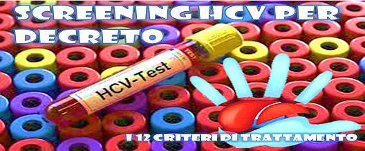 Screening HCV per Decreto